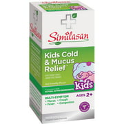 Similasan Original Swiss Formula Homeopathic Cold & Mucus Relief Cough Expectorant Syrup, Kids 2-12, 4 oz