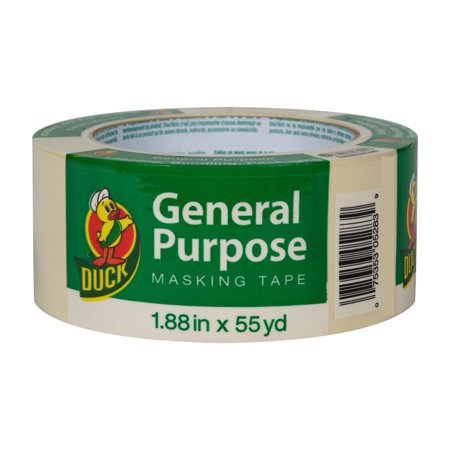 - Duck Brand General Purpose Masking Tape - Beige, 1.88 in. x 55 yd.