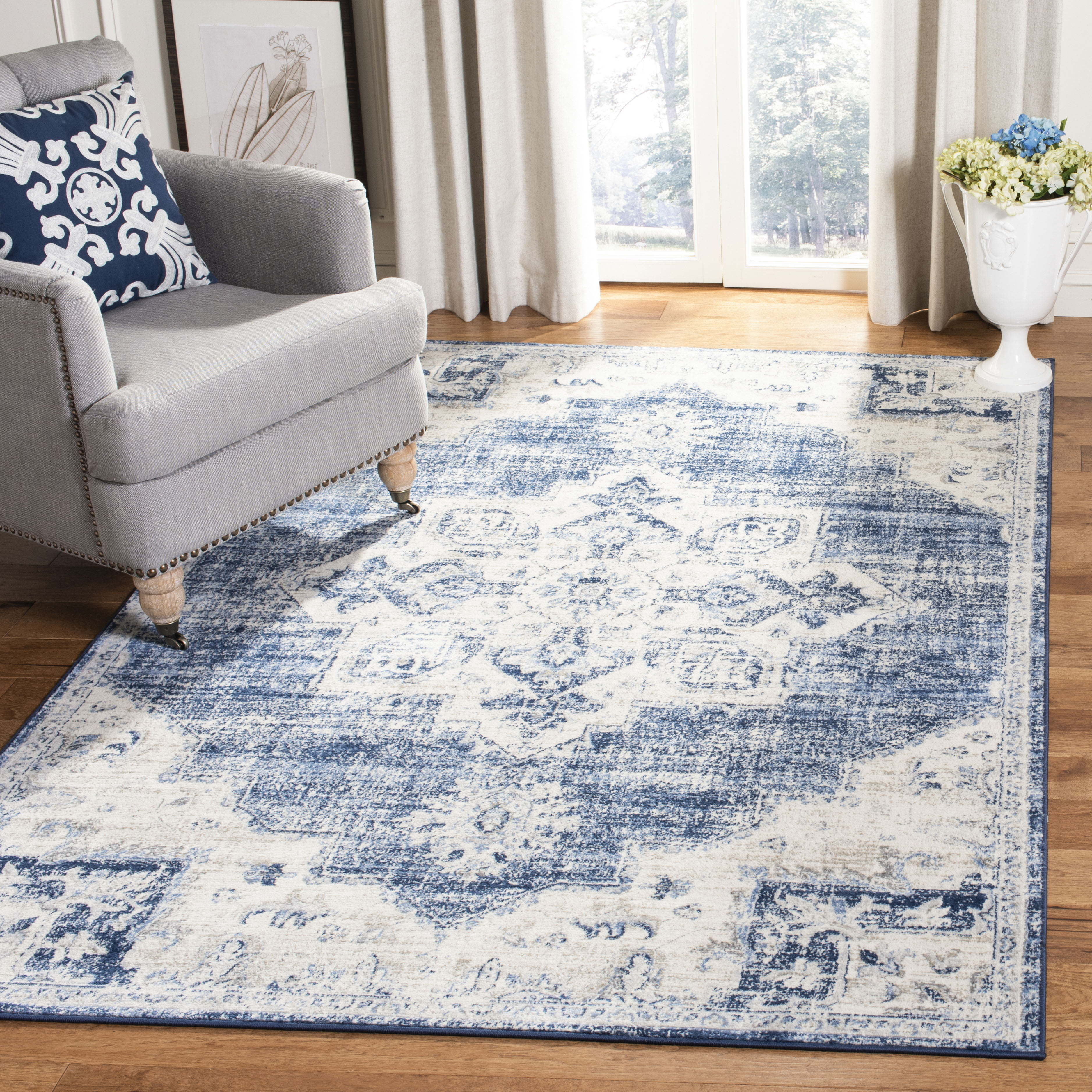 Safavieh Brentwood Jameson Floral Bordered Area Rug Or
