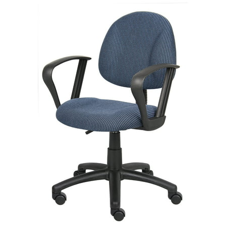 Deluxe Posture Chair with Loop Arms Blue - Boss Office Products