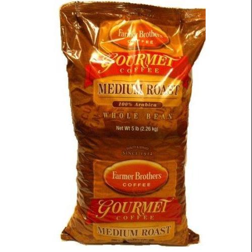 Farmer Brothers Whole Bean Coffee-Medium Roast 100 Arabica, 5 Lb Bag