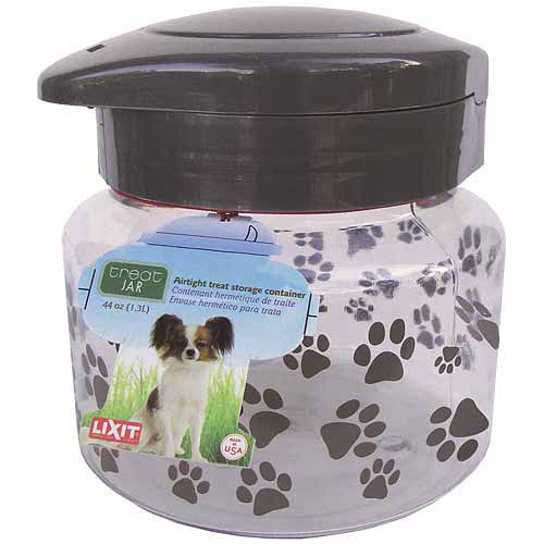 Lixit Corporation Plastic Dog Treat Jar, 64-Oz