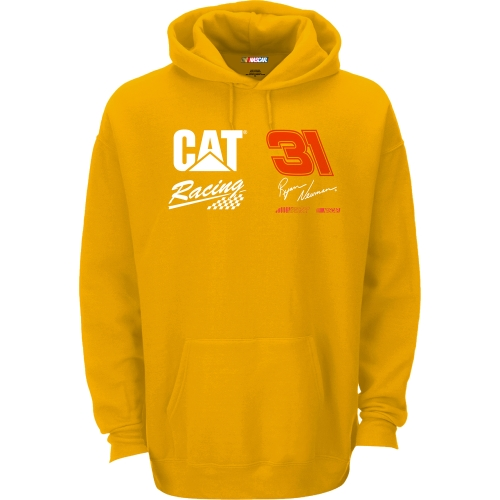 Ryan Newman Checkered Flag CAT Sponsor Pullover Hoodie - Gold