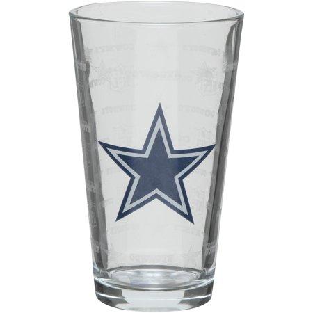 Dallas Cowboys 16oz. Sandblasted Mixing Glass - No