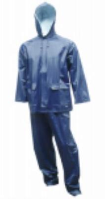 Click here to buy 2 Piece Large Navy 2 Rain Suit,2 5 mm Double Ply PVC Lightweight Only One.
