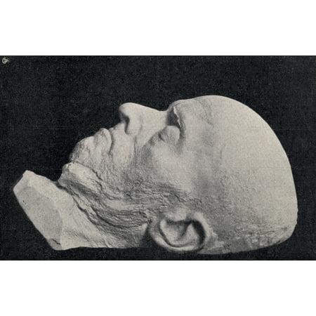 Death Mask Of Adolph Friedrich Erdmann Von Menzel 1815 To 1905 German Artist From Die Gartenlaube Published 1905 Stretched Canvas - Ken Welsh  Design Pics (18 x 11) (Pics Von Sonnenbrillen)