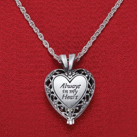 Women's Brass Urn Enclosed In Heart Locket Necklace,