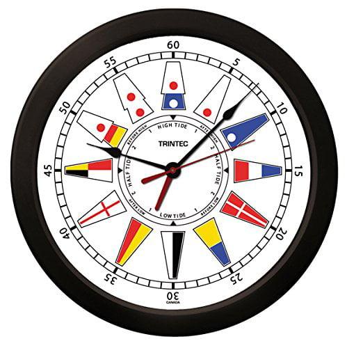 Trintec Atlantic Nautical Flag Time & Tide Indicator Cloc...