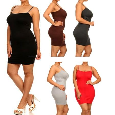 Honeycomfy - Plus Size Cami Dress - Walmart.com