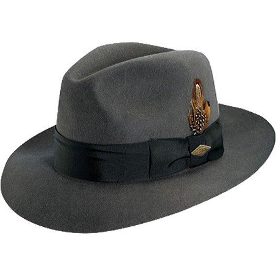 522594e82 Stacy Adams Men's Cannery Row Wool Brim Hat GREY M