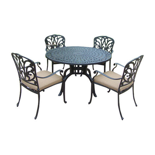 Oakland Living Hampton 5 Piece Dining Set with Cushions