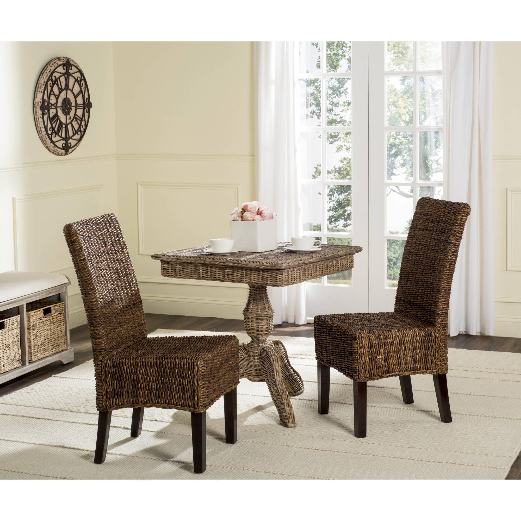 "Safavieh Avita 18"" High Wicker Dining Chair, Multiple Colors Set of 2 by Safavieh"