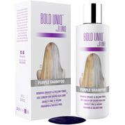 Purple Shampoo for Blonde Hair: Blonde Shampoo Eliminates Brassy Yellow Tones- Lightens Blonde, Platinum, Ash, Silver and Grays- Paraben & Sulfate Free Toner- Revitalize Bleached &