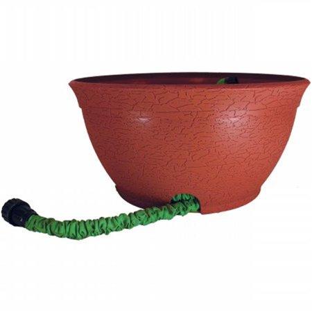 Hose Hider Distressed Pot for Expandable Hose, Terra Cotta ()