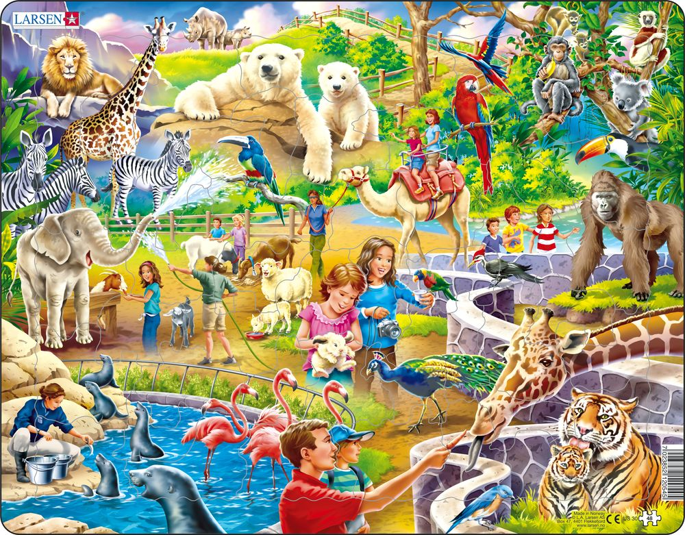 Larsen Puzzles Zoo Animals Children's Educational Jigsaw ...