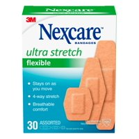 Nexcare Ultra Stretch Flexible Bandages, Assorted Sizes, 30 Count