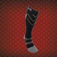 CSX X200 Athletic Compression Sock-15-20 mmHg-Silver/Black-XL
