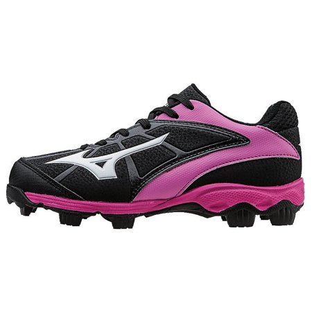 new concept d92d1 835d0 Mizuno - Mizuno 9-Spike Advanced Youth Finch Franchise 6 Molded Fastpitch  Softball Cleat - Black Pink 5 - Walmart.com