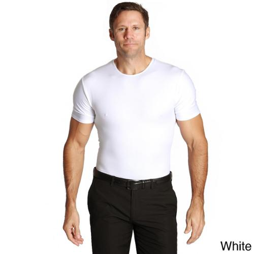 Insta Slim Compression Crew Neck Shirts (Pack of 3) 3PK-White-2XL