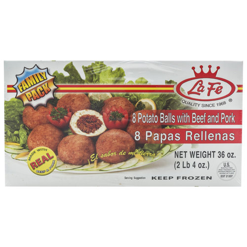 La Fe Potato Balls with Beef and Pork, 8 count, 36 oz