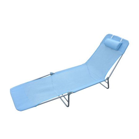 Outsunny folding beach chaise lounge pool reclining for Beach chaise lounge folding