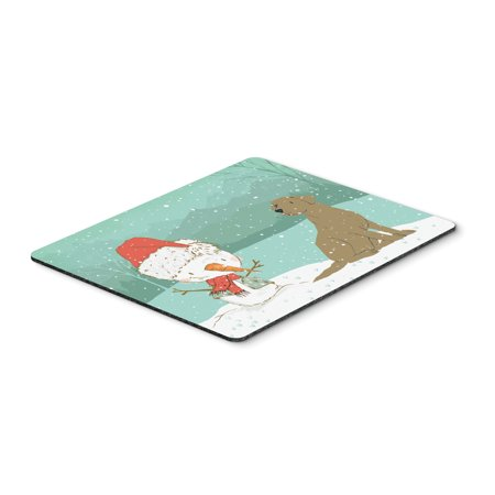 Carolines Treasures CK2048MP Chocolate Labrador Snowman Christmas Mouse Pad, Hot Pad or Trivet ()