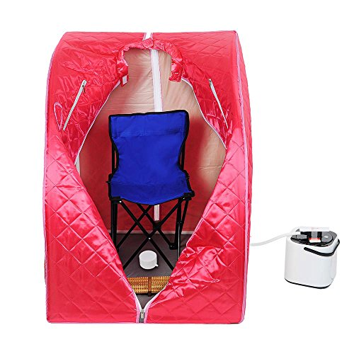 MegaBrand 2L Portable Steam Sauna Tent SPA Detox Weight Loss w  Chair Red by MegaBrand