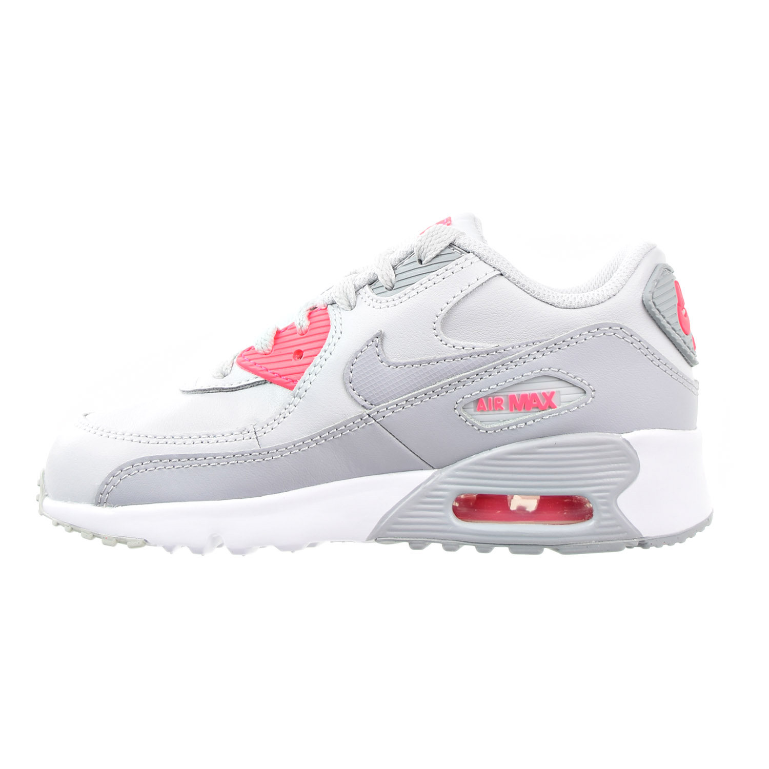 Nike Air Max 90 LTR Little Kid/'s Shoes Pure Platinum-Wolf Grey 833377-007 PS