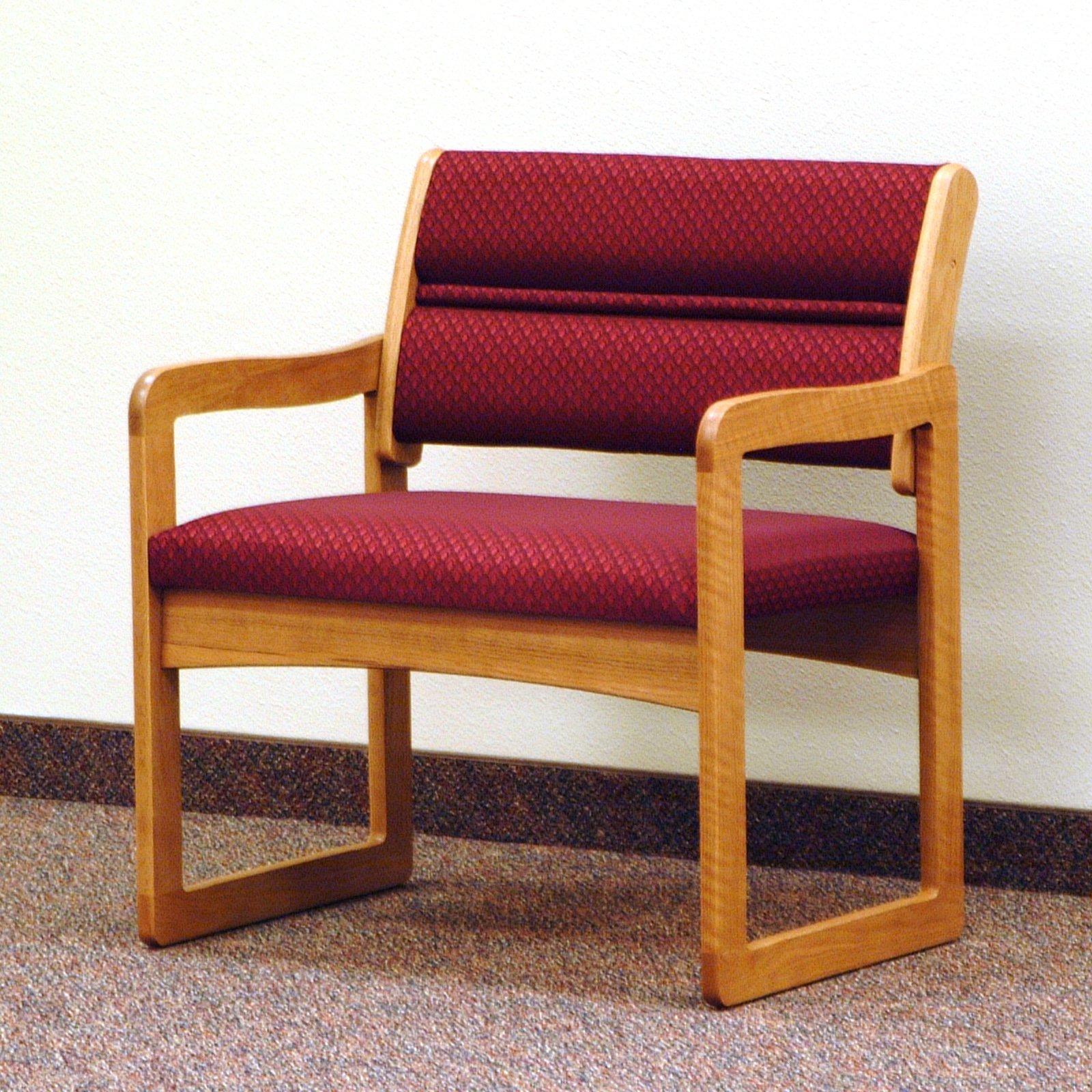 Wooden Mallet DWBA1-1 Solid Oak Bariatric Guest Chair