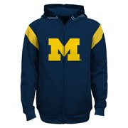 "Michigan Wolverines Youth NCAA ""Helmet"" Full Zip Sweatshirt"