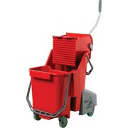 Unger, UNGCOMBR, 32 Qt Dual Compartment Mop Bucket, 1 Carton, Red