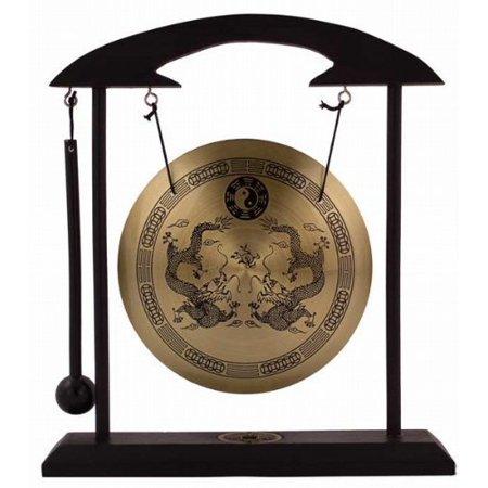Zen Art Brass Feng Shui Desktop Gong - Great Decor for Living Room by Asian