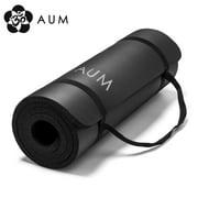 """AUM High Density HD Foam Tech Yoga Exercise Mat 72"""" x 24"""" x 1 2"""" by Vandue"""