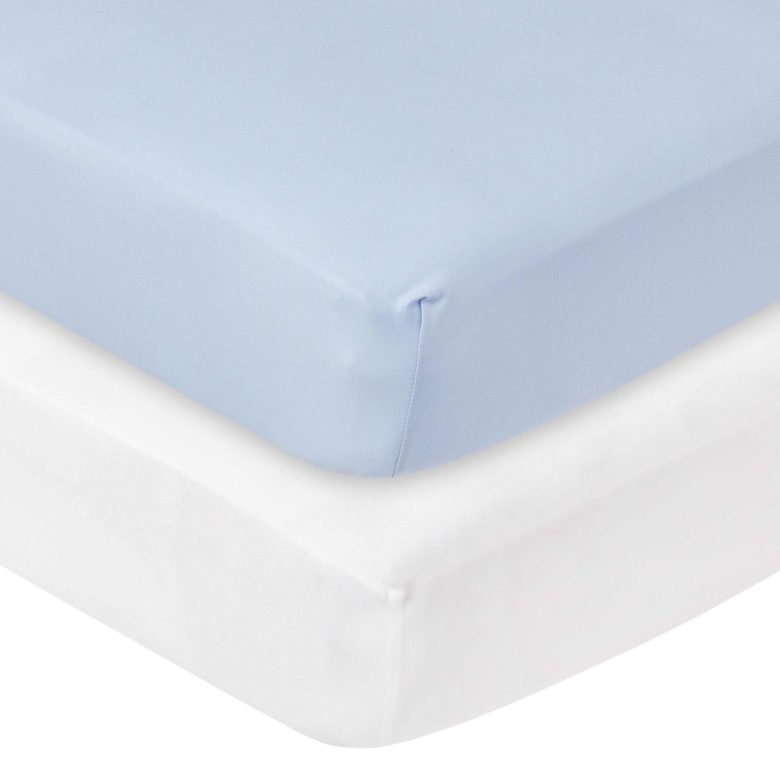 for Boys and Girls 4553-BL American Baby Company Fitted Portable//Mini-Crib Sheet Heavenly Soft Chenille,Blue
