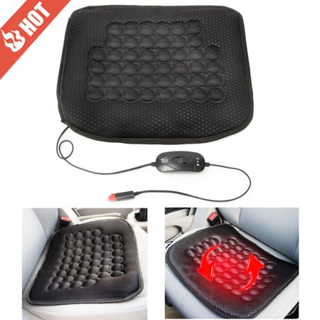 Grtsunsea 12V 30W Car Front Seat Heated Cushion Hot Cover Warmer Pad for Auto SUV Truck Cold Weather and Winter Driving