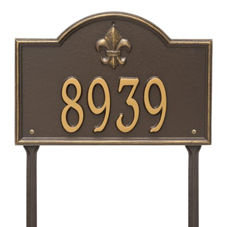 Personalized Whitehall Products Bayou Vista Single Line Standard Lawn Plaque In Bronze Gold