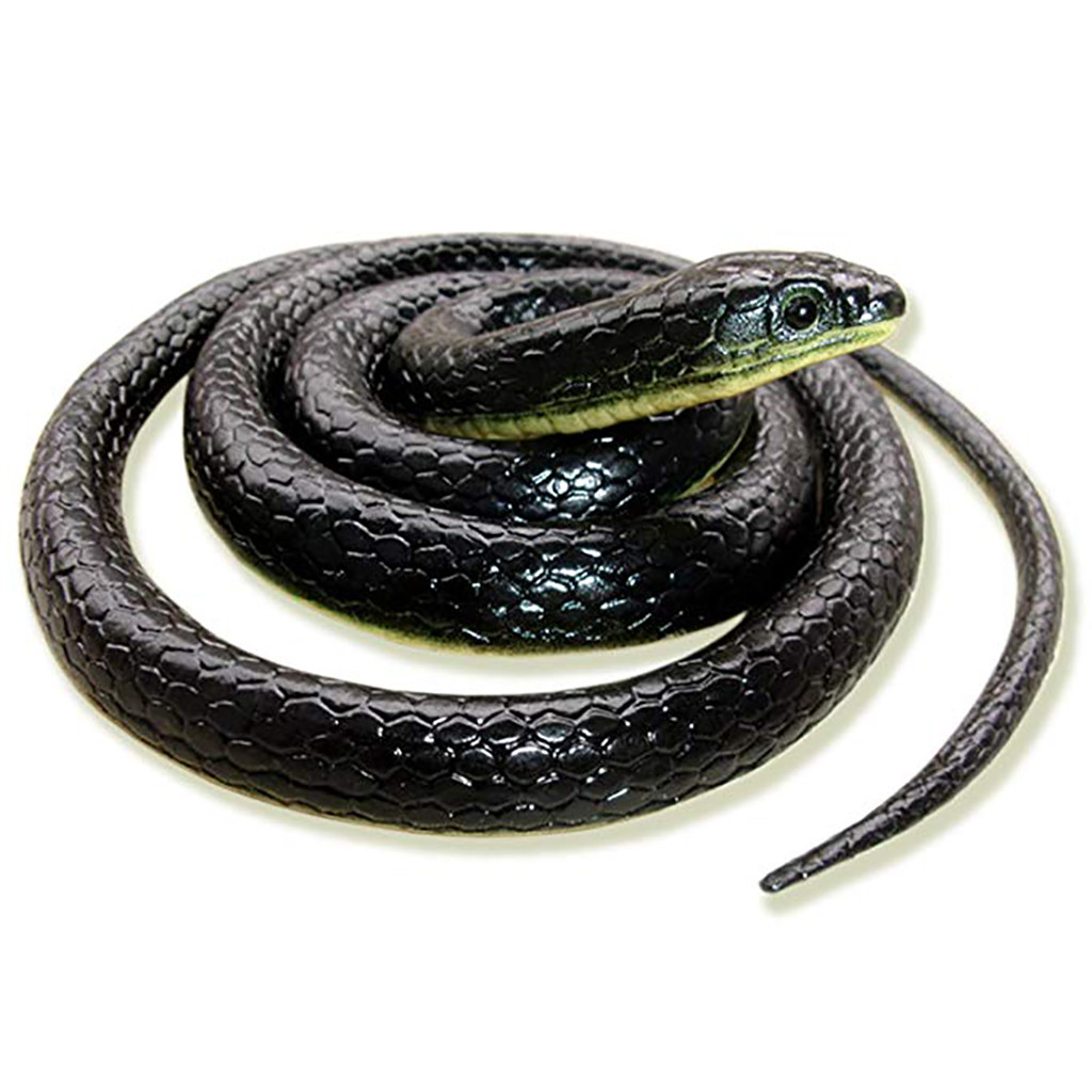 Realistic Fake Rubber Toy Snake Black Fake Snakes 49 Inch Long April Fool/'s Day