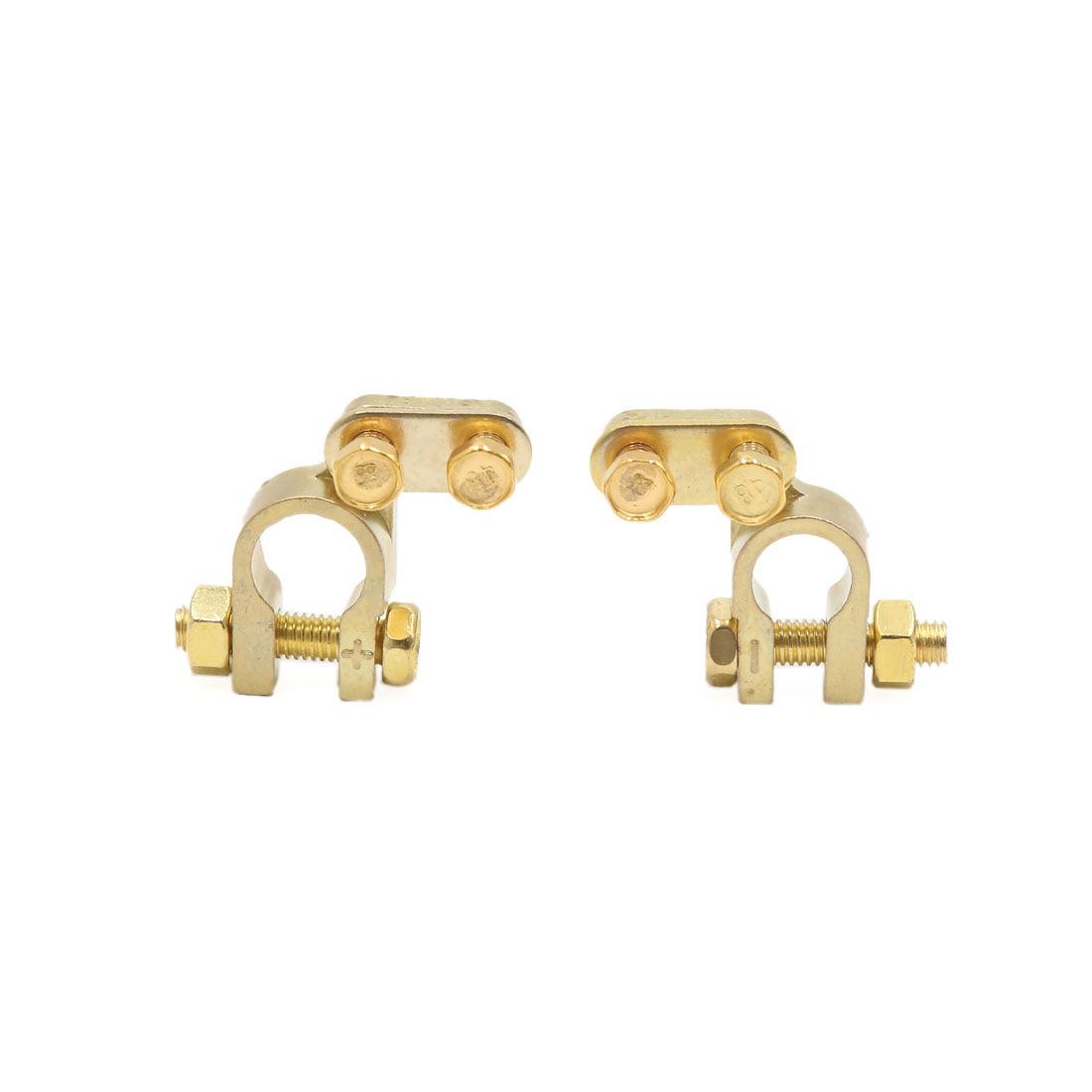4Pc alliage cuivre doré positive négative batterie Connecteur colliers - image 1 de 2