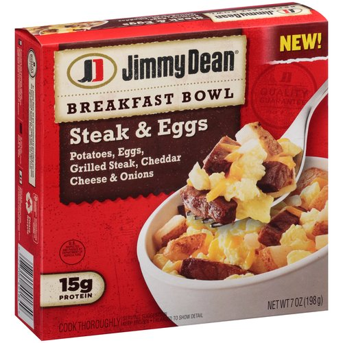 Jimmy Dean Steak & Eggs Breakfast Bowl, 7 oz