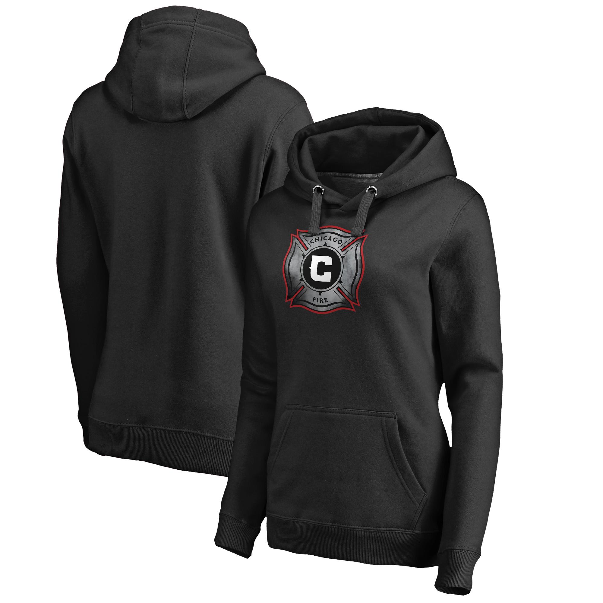Chicago Fire Fanatics Branded Women's Core Smoke Pullover Hoodie - Black