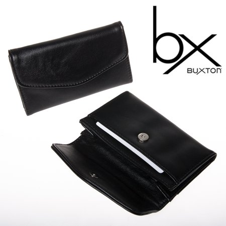 2 buxton black faux leather snap business card case holder wallet 2 buxton black faux leather snap business card case holder wallet pocket file colourmoves