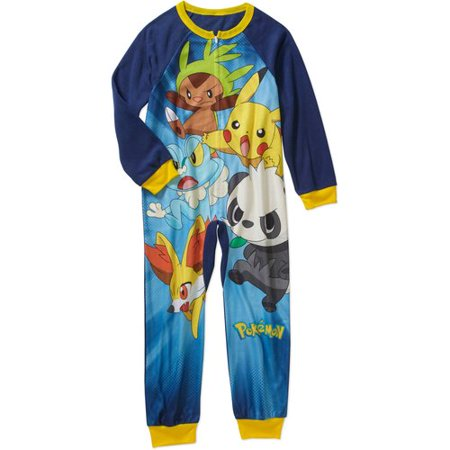 Pikachu Boys' Licensed Poly Blanket Sleeper Pajama