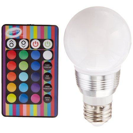 Crayola Remote Control Color Changing Led Light Bulb