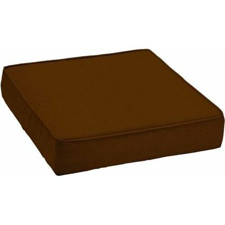 patio deep seat bottom cushion with welt orange texture