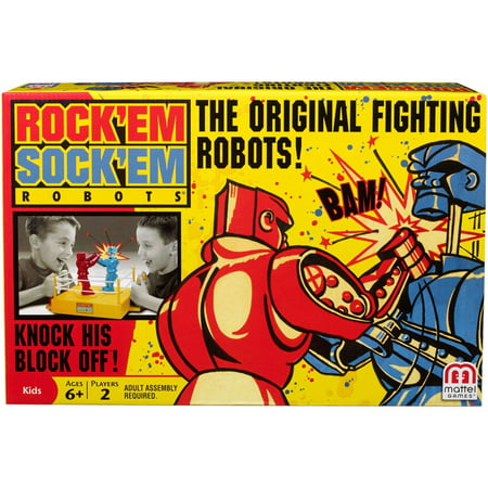 Rock 'Em Sock 'Em Robots Boxing Game for 2 Players Ages 6Y+ (Boxing Fighter Robots Toy)