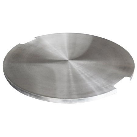 Image of Elementi Stainless Steel Outdoor Boulder Fire Pit Table Cover Durable Round 21 x 21 x 1 inches Grill Fire Ring Lid Firepit Accessory