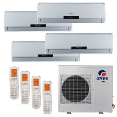 Gree MULTI30BNEO400 - 30,000 BTU +Multi Quad-Zone Wall Mount Mini Split Air Conditioner Heat Pump 208-230V (9-9-9-9)