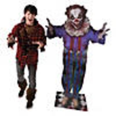Big Top Terror Scary Clown Halloween Cardboard Stand-Up](Scary Halloween Pop Ups)