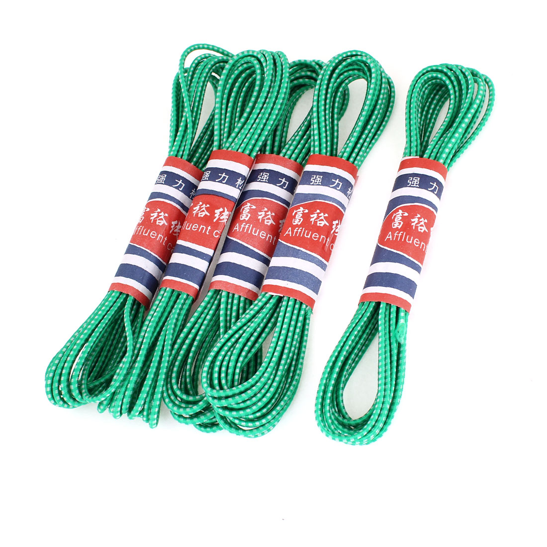 Unique Bargains 5 x Pants Trousers Replacement Green Round Elastic String 4.1M 13.5Ft Length