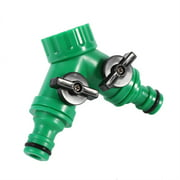OTVIAP Watering Tap Connector, 1Pcs 2-Way Adapter Y Connector Adaptor Switch Garden Watering Drip Irrigation Hose Pipe 3/4 , 2 way Tap Connector